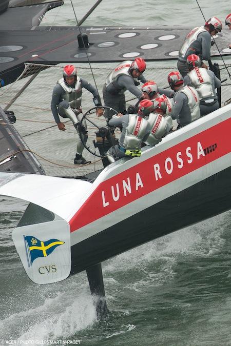 Luna Rossa en la Louis Vuitton Cup