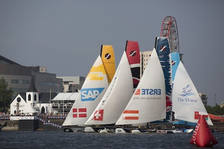 The Extreme Sailing Series 2013, Act 6, Cardiff.Credit: Lloyd Images