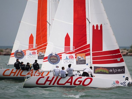 Chicago Match Cup, Navy Pier, 6th - 11th August 2013. Alpari World Match Racing Tour.