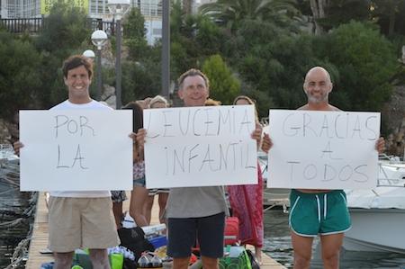 cruzar a nado el Canal de Menorca