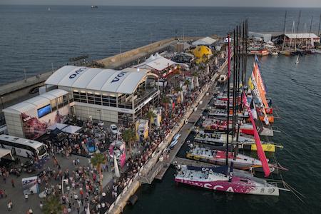 Crowds in the Race Village - Volvo Ocean Race 2014-2015