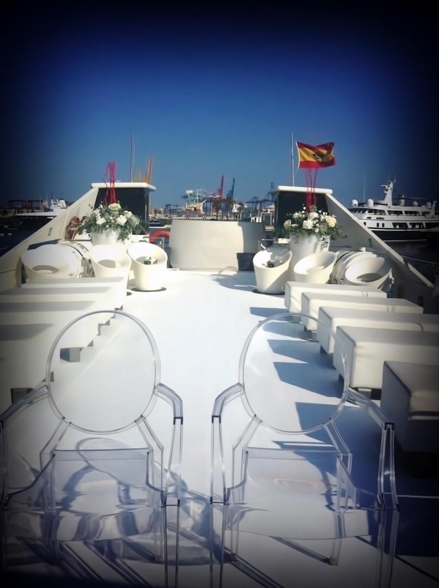Barcos para bodas - decoración