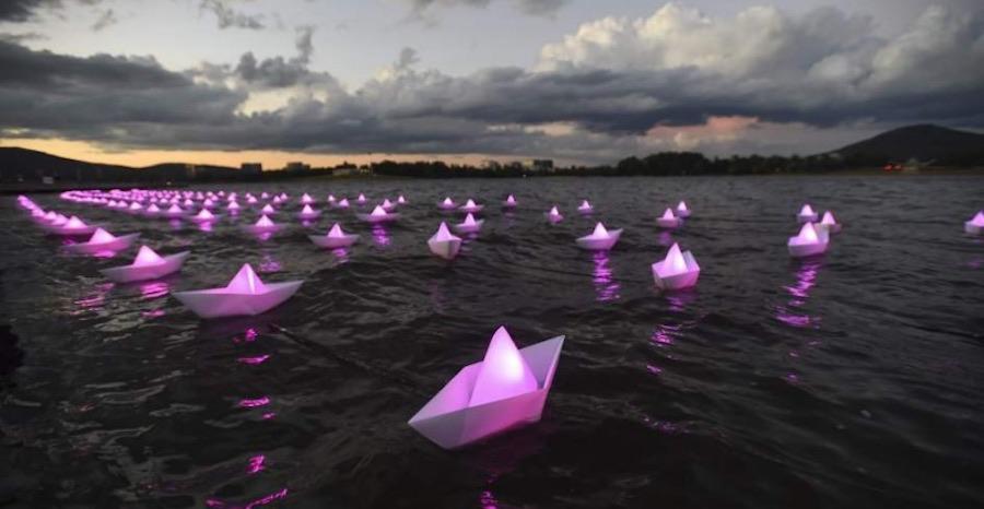 Iluminacion bodas en barco 2