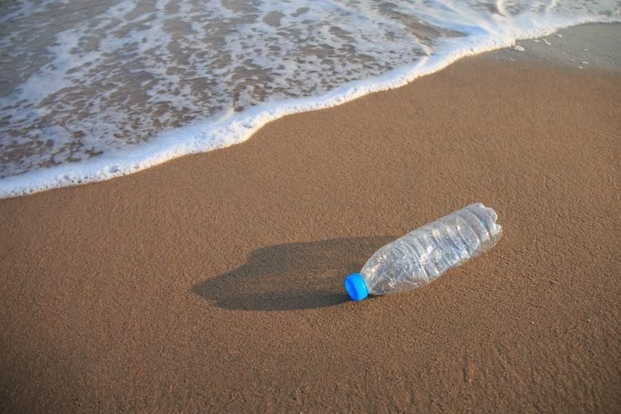 Botella Playa Mar Mediterráneo