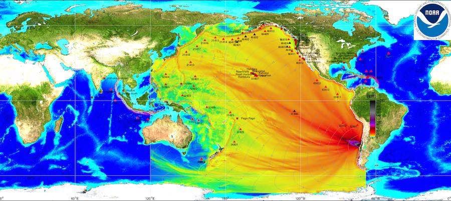 Tsunamis y maremotos Alerta mapa