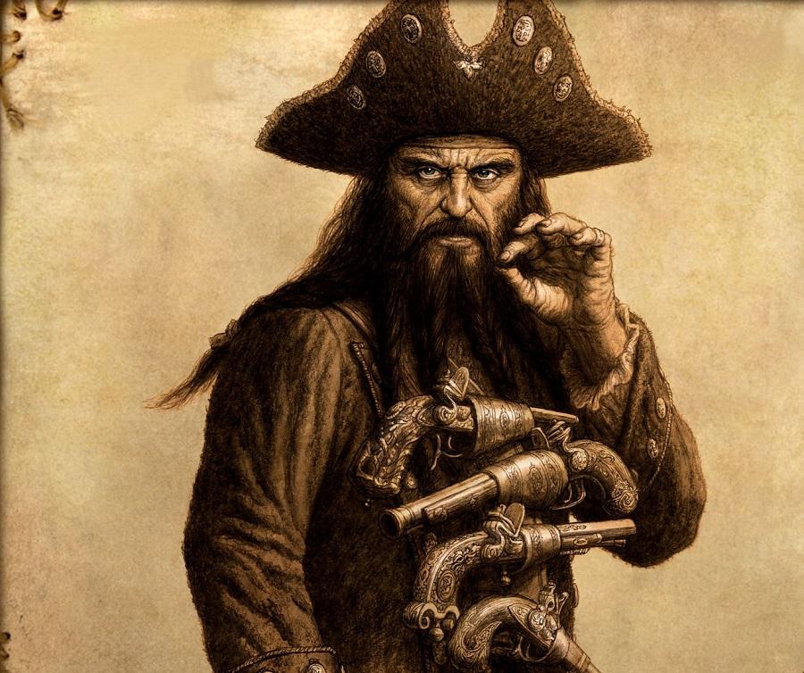 Resultado de imagen de pirata barbanegra