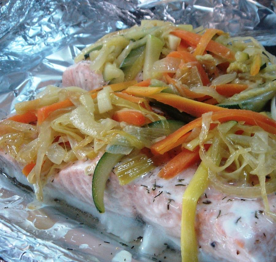 Gastronom a marinera pescado a la papillote con verduras Cocinar ortigas de mar