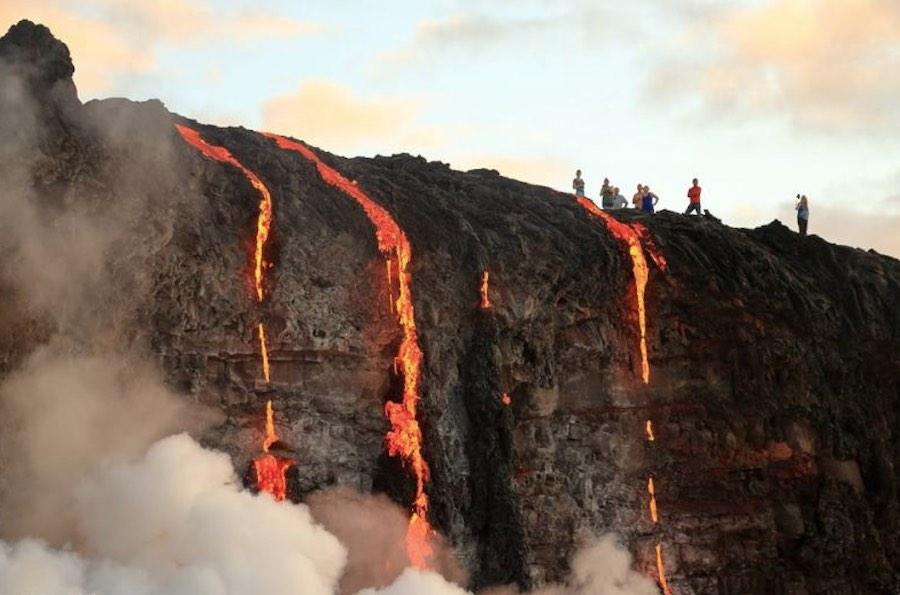 Lava en el mar - Volcán Kilauea 2