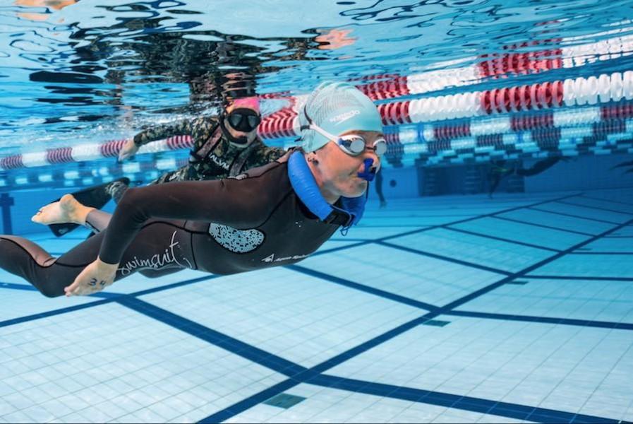 Mundial de apnea en piscina 1
