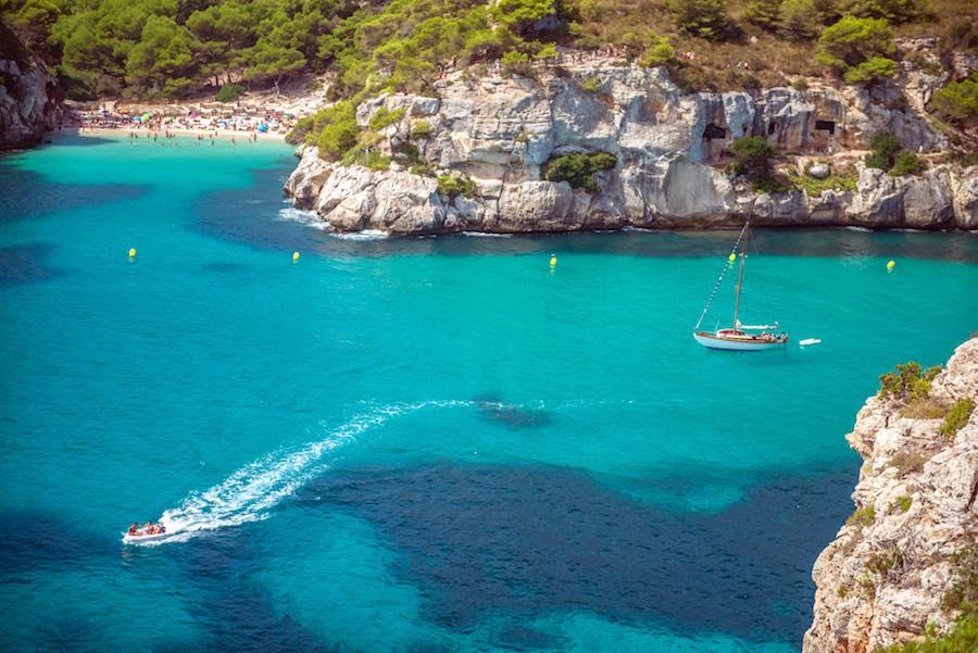 Cala Macarella Turismo Náutico en Menorca, Spain