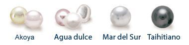 tipos de perlas cultivadas
