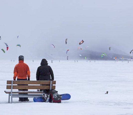 Kiteboarding nieve