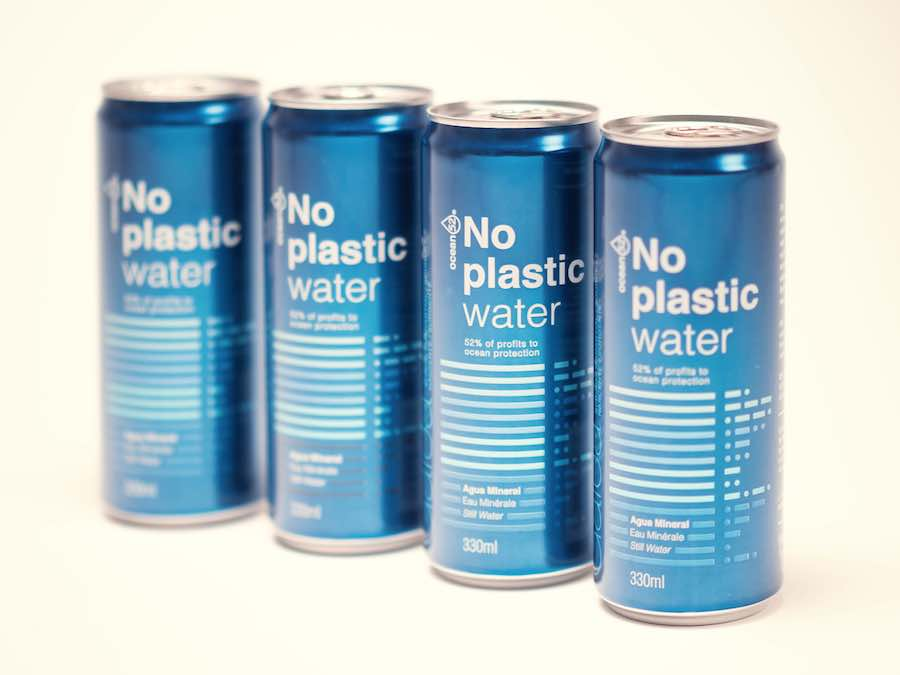 No plastic water