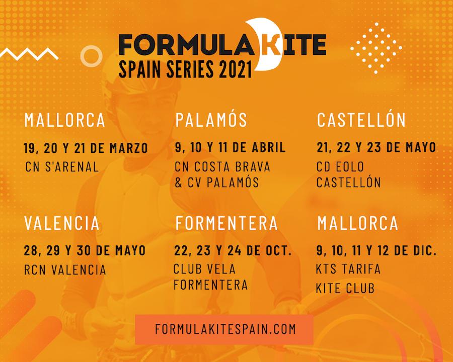Calendario Formula Kite Spain Series - FKSS 2021